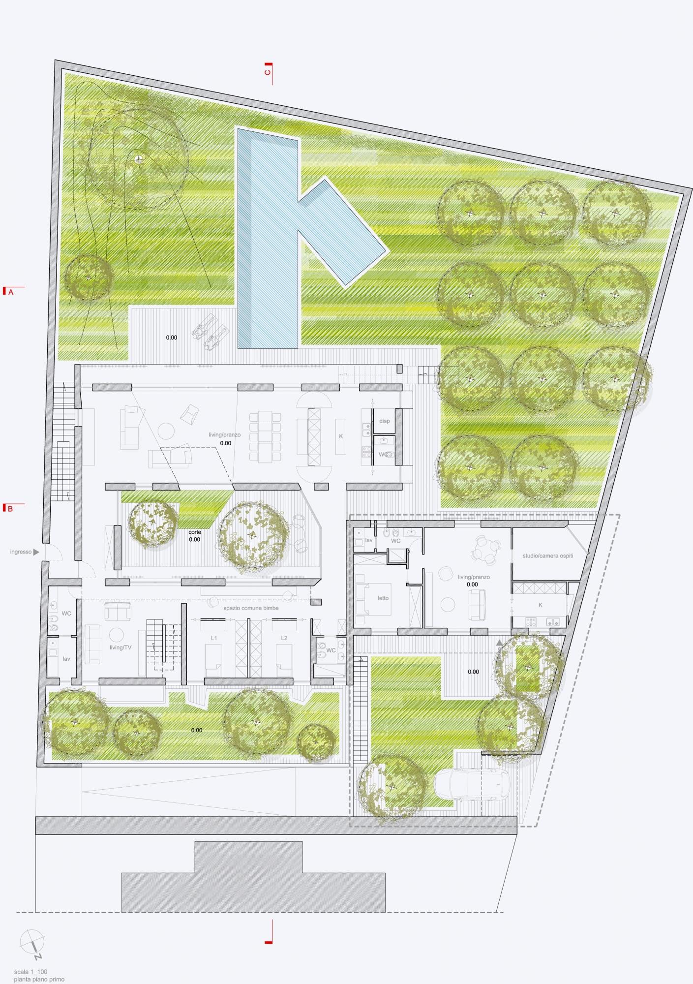 Proposta progettuale a casa a corte 2016 antonio for Casa a 1 piano